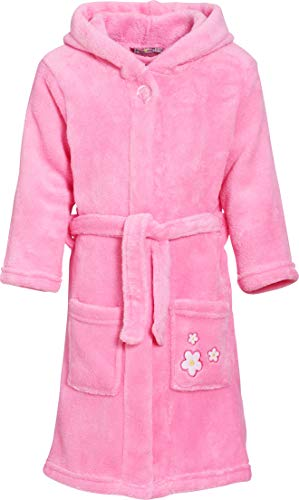 Playshoes Fleece-Bademantel Blumen-Stickerei Albornoz