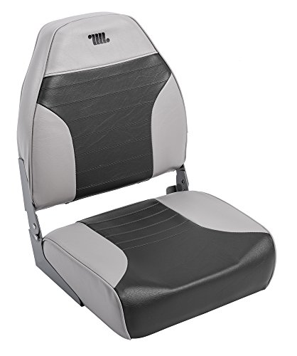 Wise 8WD588PLS-664 Standard High Back Fishing Boat Seat, Grey/Charcoal