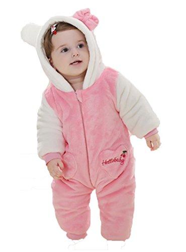 OHmais Bébé Fille garçon Unisexe Grenouillère Costume Deguisement Combinaison Pyjamas Hiver Minou