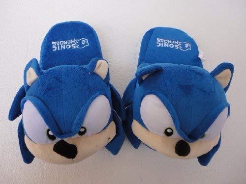 Pantofole di Peluche Sonic Super Mary Sonic The Hedgehog Cosplay Pantofole con Cappello Berretto da Baseball Scarpe Giocattolo di Peluche Regalo di Compleanno per Adulti Donna Uomo