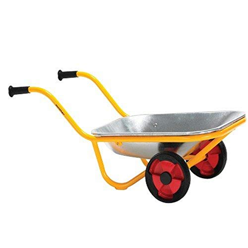 Constructive Playthings WIN-593 Heavy-Duty Steel Wheelbarrow, Two Wheel Design, Kindergarten Grade to 3 Grade, 32' H, 15' L, 12.35' W