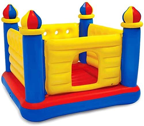Vivid Bouncy Castle Trampoline Trampolín para niños con la Red Protectora Inicio Plegable Paraíso Inflable