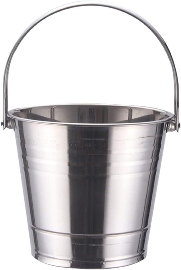Hemoton Stainless Philadelphia Mall Steel Beer Bucket with Handle Wine Spi Tasting Mail order