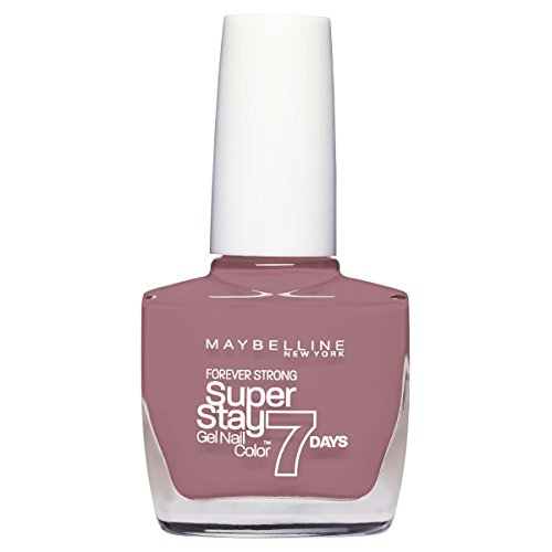 Maybelline New York Make-Up Superstay Nailpolish Forever Strong 7 dagen Finish Gel Nagellak / kleurlak met ultra sterke grip zonder UV-lamp in verzadigd donkerblauw, 1 x 10 ml 10 ml Rose Poudre