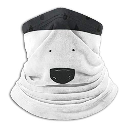 ShiHaiYunBai Tour de Cou Cagoule Microfibre Chapeaux Tube Masque Visage, Fleece Neck Warmer - The Polar Bear Neck Gaiter Tube, Bandana, Headband & Beanie