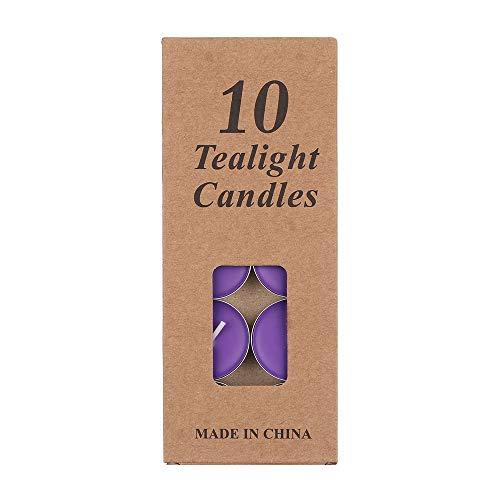 maylace Tealight kaars, 10 stks/pak Aluminium partij levering bruiloft ongeparfumeerde Mini kaars Tealight Wax rookloos 10PCS Paars