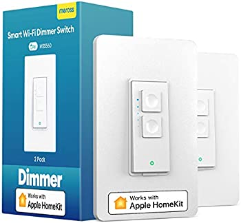 2-Pack Meross Smart WiFi Dimmer Switch with Remote Control