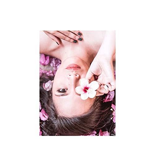 Lienzo Y Arte De Pared PóSter 23.6'x35.4'(60x90cm) Pink Car Piña Torre del Reloj Castle Girl T1 Pintura Pared Y Estampados Cuadros Sin Marco