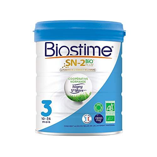 Biostime SN-2 Bio Plus - Lait infantile Bio 3ème âge en poudre de 10 à 36 mois (800g)