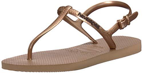 Havaianas Women's Freedom Sl Flip Flop Sandal, Rose Gold, 11/12 M US
