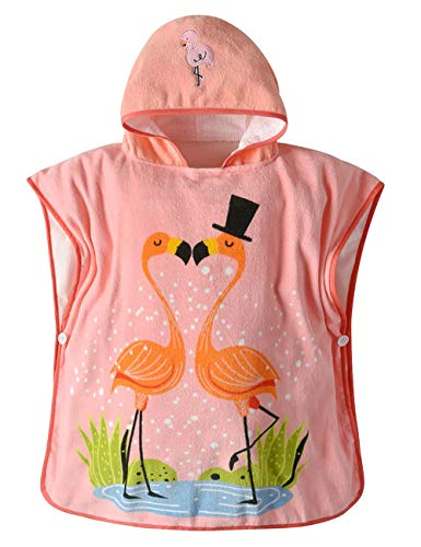 Echinodon Baby Badeponcho 70 * 70cm/ 100% Baumwolle/Kapuzenbadetuch Kinder Poncho Badetuch mit Kapuze Handtuch Mädchen Schwan