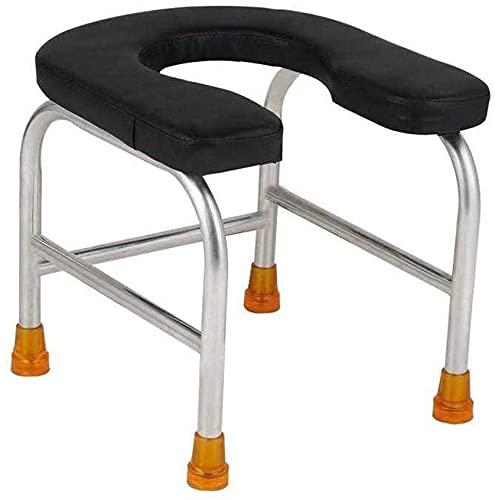 Silla WC Con Inodoro Silla de baño de asiento de inodoro en forma de U, silla de ducha antideslizante de acero inoxidable de seguridad, silla de ducha portátiles, pan-150kg (330lb) para discapacitados ⭐