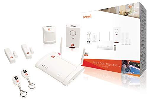 Home8 Smart Home Sicherheitssystem mit Basisstation, 2x Fenster- Tür-Sensoren, Bewegungsmelder, 2x Handsender und Alarmsirene / per App jederzeit steuerbar und überwachbar