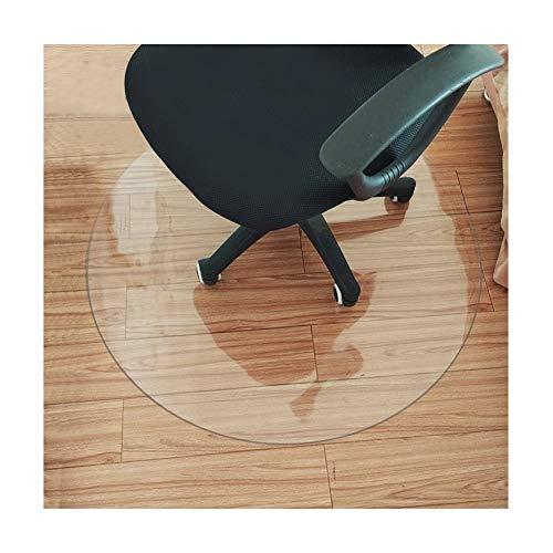 HYCH-Alfombrilla Protectora for Suelo, Redondo Alfombra Plastica Antideslizante Casa Protección De Piso De Madera Dura PVC Translúcido, Cojín para mesa y silla,1mm,60cm