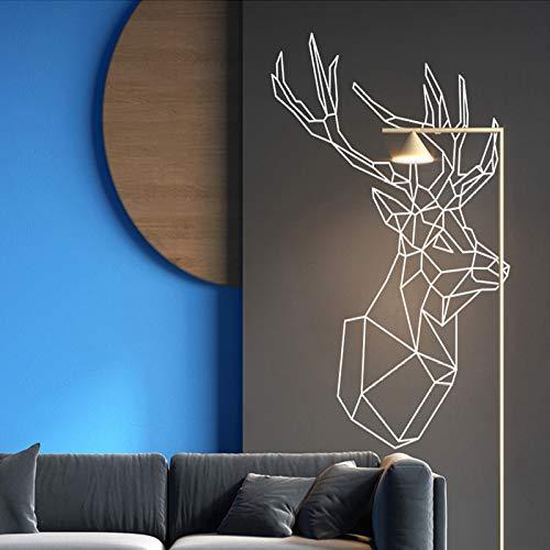 fdgdfgd Nordic Art Geometric Deer Vinyl Wandbild wasserdichte Wandaufkleber Wohnkultur Kinderzimmer Dekoration Abnehmbare dekorative Wandtattoo