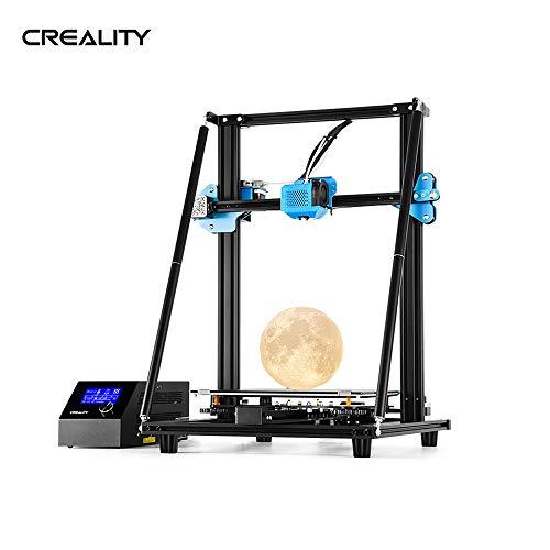Entweg Imprimante 3D,Cr-10 V2 Imprimante 3D De Haute Précision Kit De Bricolage Profilé En V 300 * 300 * 400Mm Format Impression Taille Silencieuse De La Carte Mère Reprendre La Détection Des Ruptures