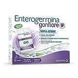 Enterogermina Gonfiore Integratore Alimentare Contro il Gonfiore Addominale Tripla Azione, 20 Bustine, Senza Lattosio e Senza Glutine