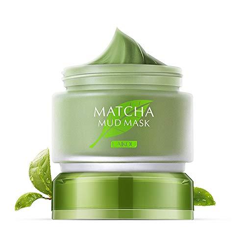 Organic MATCHA Green Tea Facial Mask,Matcha Facial Mud Mask, Improves Complexion, Anti-Aging, Detoxifying, Antioxidant, Moisturizer, Anti-Acne