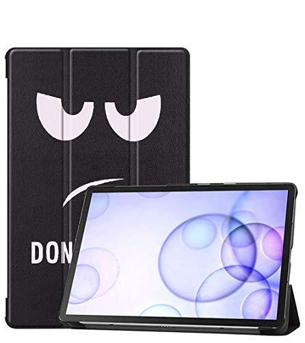 XIAOYAN Funda protectora para Samsung Galaxy Tab S6 de 10,5 pulgadas, SM-T860, piel dormante, dibujos animados T865C anti-caída con soporte de ojos grandes