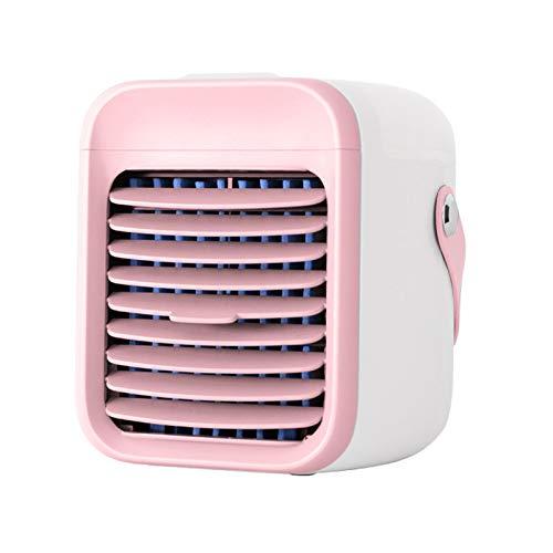 Hansensi - Mini climatizzatore portatile 3 in 1, portatile, portatile, portatile, portatile, portatile, con nebulizzatore, umidificatore, ventilatore USB, per camera da letto, ufficio (rosa)