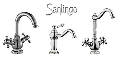 Sanlingo – Spültischarmatur Roda in edler Nostalgieoptik, Chrom - 3