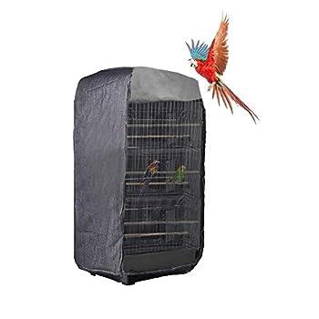 Hearthrousy Housse pour Cage à Oiseaux Légère pour Animal Domestique Pet Universelle Couverture Lavable pour Perroquet Bird Cage Avant Couvercle Réglable 44x34x87.5CM (Cage Non Incluse)