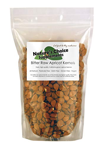 Bitter Apricot Kernels, California Grown, 1 lb Raw Apricot Seeds, 100%...