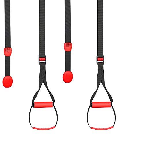 O RLY Bodyweight Fitness Widerstandstrainer Kit mit Pro Riemen für Tür Klimmzugstange, Ankerpunkt für Ganzkörpertraining V1