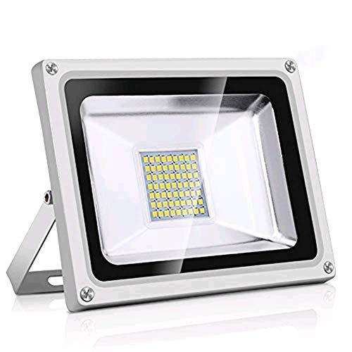 Projecteur LED exterieur Horypt LUX 30W Lampadaire exterieur Mural 6000K 3000LM, sans Prise Lumière froide Etanche IP65 Diffusion à 120° idéal pour entrepôts, hangars industriels et commerces