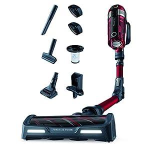 Rowenta XForce Flex 11.50 RH9829 Aspiradora escoba sin cable, cabezal con luces Led, gran potencia, posición parking, batería extraíble de 22 V, autonomía de 45 min con tubo flexible