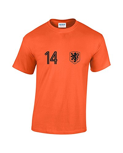 Holland No 14 Worldcup-T-Shirt Gr. X-Large, Orange