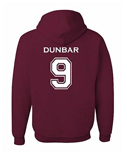 The Creating Studio Adult Dunbar 9 2-Sided Hoodie (Medium, Maroon)