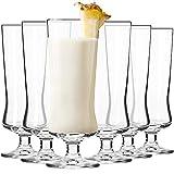 Krosno Pina Colada Cocktailgläser Longdrinkgläser | Set von 6 | 300 ML | Avant-Garde Kollektion | Perfekt für Zuhause, Restaurants und Partys | Spülmaschinenfest