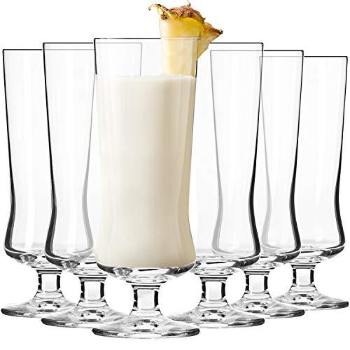 Krosno Copas Pina Colada Cóctel Vasos | Conjunto 6 Piezas | 300 ML | Avant-Garde Collection Uso en Casa, Restaurante y en Fiestas | Apto para Microondas y Lavavajillas