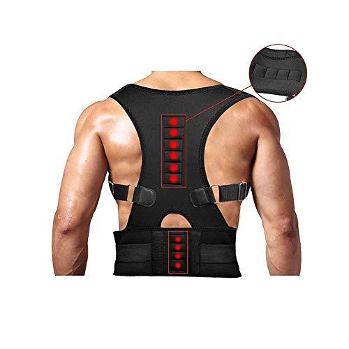 YUMUO Magnetic Posture Corrector Rückenstütze Schulter an der Taille Lordosenstütze Buckelgürtel Verhindern Schmerzlinderung für den Körper (Maße: L)