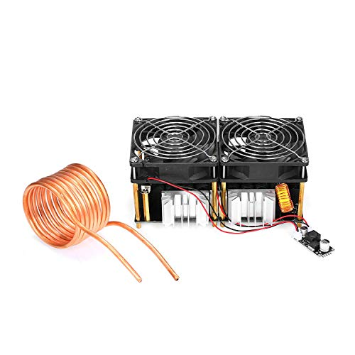 JKUNYU Tabla de Calefacción, - 1800W ZVS bricolaje calentamiento por inducción pizarra electrónica durable de la placa PCB del módulo de baja tensión controlador del tiempo de retorno del calentador A