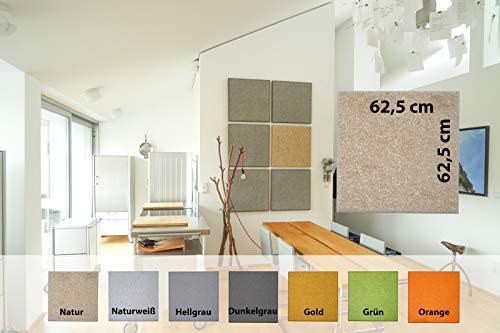 Akustikplatte - SCHALLSCHUTZPLATTEN – Platten für Wand und Decke – für Innen und Außen – RAUMAKUSTIK – aus Naturfasern – Farbe: Naturweiß - inkl. Montageset
