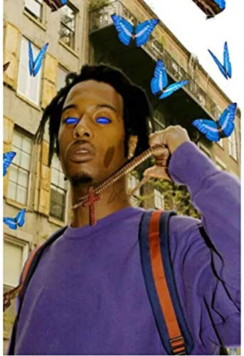 liujiu Playboi Carti Rap Music Rapper Star Hip Hop Posters Pictures Canvas Prints Wall for Home Decor Decoration Gift -20x28 Inch No Frame 1 Pcs