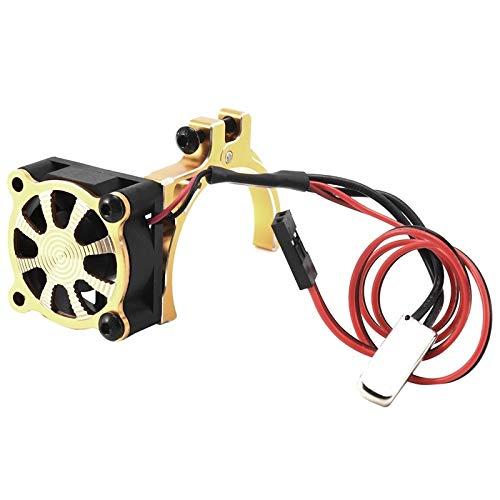 XIOFYA CNC de aleación de Aluminio de la Abrazadera del disipador de Calor en Forma for el Coche de RC 3650 3660 550 540 Motor disipador térmico del Ventilador de refrigeración con Sensor térmico