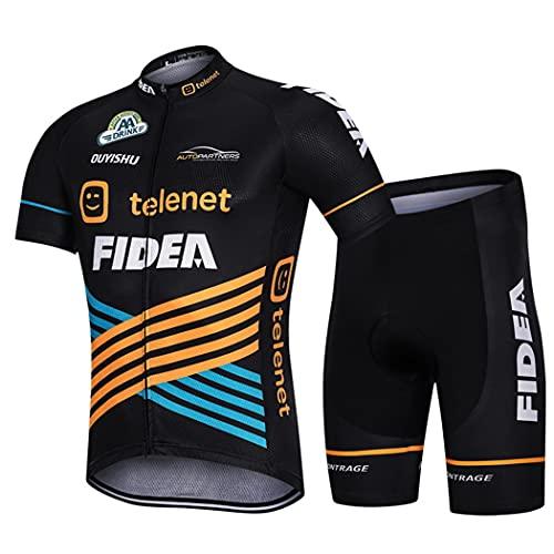 Ye Wang Summer Mens MTB Bike Cycling Jersey Outdoor Road Racing Tshirts Abbigliamento da Ciclismo Pantaloncini Camicia da Bicicletta Set di Abbigliamento Sportivo Team,XXXXL