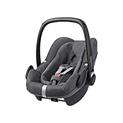 Baby car seat, suitable from birth to approximate 1 year (0-13 kg, 45-75 cm) Fits with the Maxi-Cosi FamilyFix2, BabyFix and FamilyFix One i-Size bases i-Size for enhanced safety and optimal protection against side impacts Baby hugg inlay offers a be...