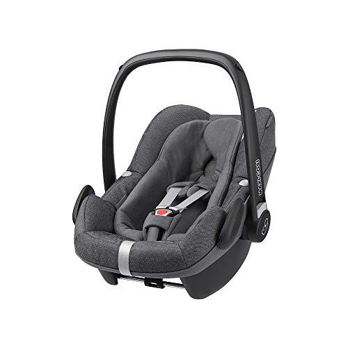 Maxi-Cosi Pebble Plus i-Size Babyschale, Gruppe 0+ Autositz für Babys, inkl. Sitzverkleinerer, nutzbar ab der Geburt bis ca. 12 Monate (0-13 kg / 45-75 cm), Sparkling Grey, grau