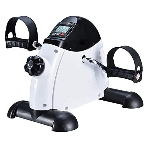 CXSMKP Ejercicio portátil Plegable con Pedal, Vendedor Ambulante de Bicicletas Debajo del Escritorio con Pantalla electrónica LED, para Entrenamiento de piernas y Brazos