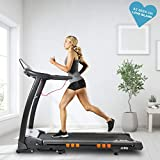 JLL S400 Folding Treadmill, 2019 New Generation Digital Control 4.5HP Motor, Large Running Area, 20 Level Incline, 15 Programmes, Speakers, Bluetooth, USB & AUX, 16 Point Cushion Deck, LCD Display
