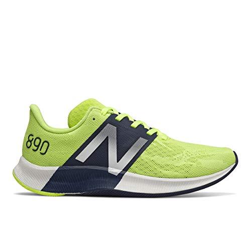 New Balance Women's FuelCell 890 V8 Running Shoe, Lemon Slush/Summer Fog, 8.5 M US