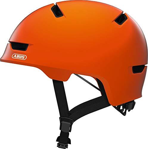 ABUS Scraper 3.0 Stadthelm - Robuster Fahrradhelm für den Stadtverkehr - für Damen und Herren - 81767 - Orange, Größe L 57-61