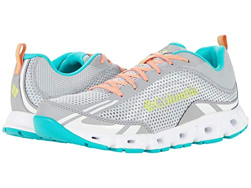 Columbia womens Drainmaker Iv Breathable Water Shoe, Grey Ice/Voltage, 10.5 US