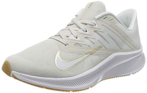 Nike Wmns Quest 3, Zapatillas para Correr Mujer, Platinum Tint Mtlc Gold Star White Gum Lt Brown, 38.5 EU