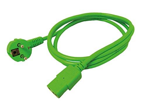 ROLINE stroomkabel I geaard contact op IEC 320-C13 socket I Verlengkabel 1,8m groen