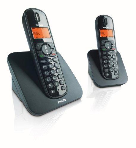 Philips Sound CD1502B/38 - Teléfono (Teléfono DECT, 50 entradas, Identificador de Llamadas, Negro)